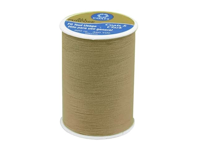 Coats & Clark All Purpose Polyester Thread 350 yd. Camel