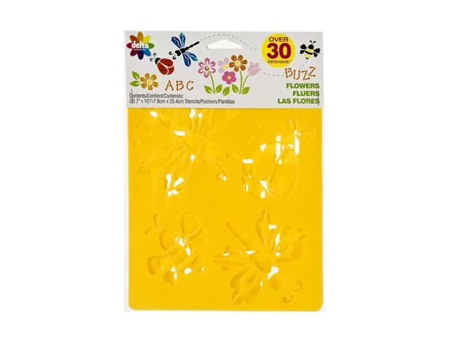 Delta Stencil Mania Value Pack Flowers 3 pc.