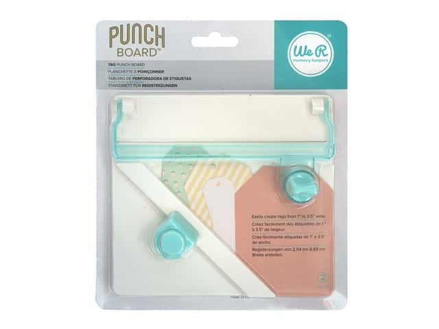 We R Memory Keepers Tag Punch Board