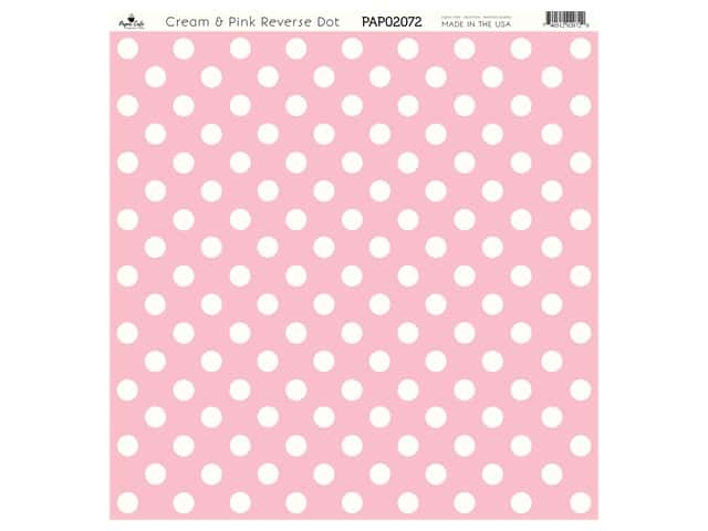 Paper Cafe Cardstock 12 in. x 12 in. Cream & Pink Reverse Dot 15 pc