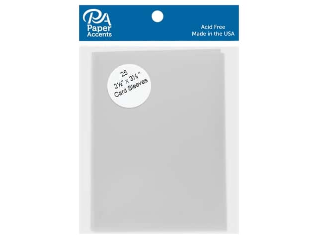 Card Sleeves 2 5/8  x 3 3/4 in. by Paper Accents Clear 25 pc.