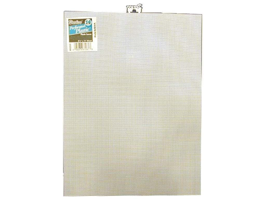 Darice Plastic Canvas #14 Mesh 8 1/2 x 11 in. White (12 sheets)