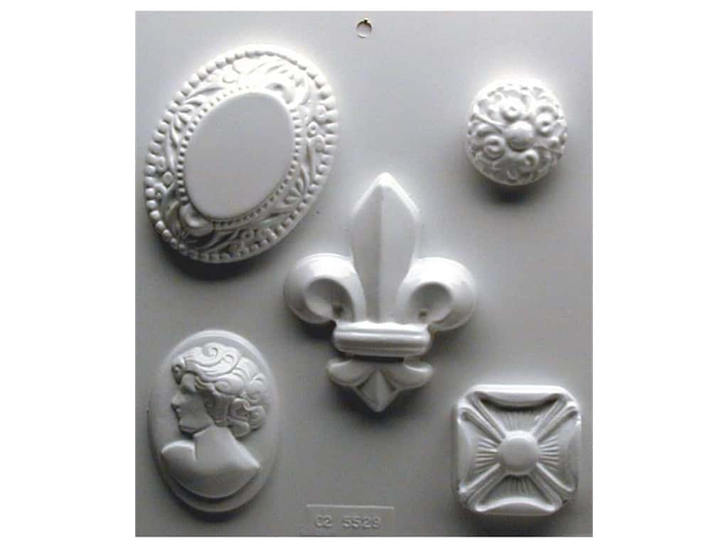 Yaley Soapsations Plastic Soap Molds 8 x 9 in. Cameos