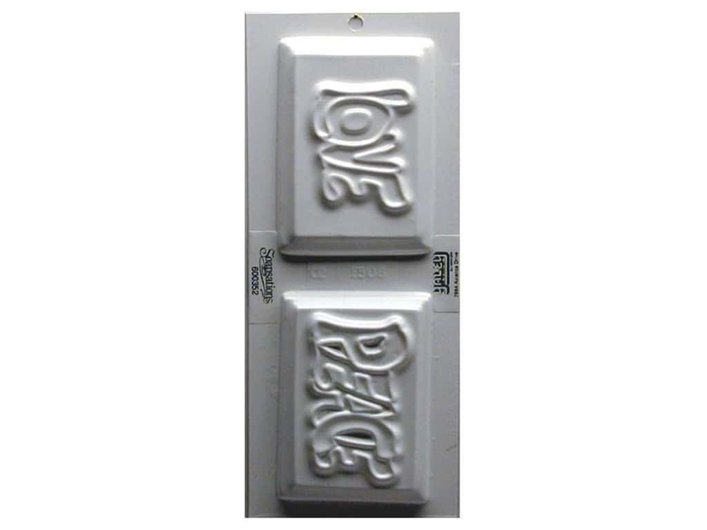 Yaley Soapsations Plastic Soap Molds 4 x 9 in. Love & Peace