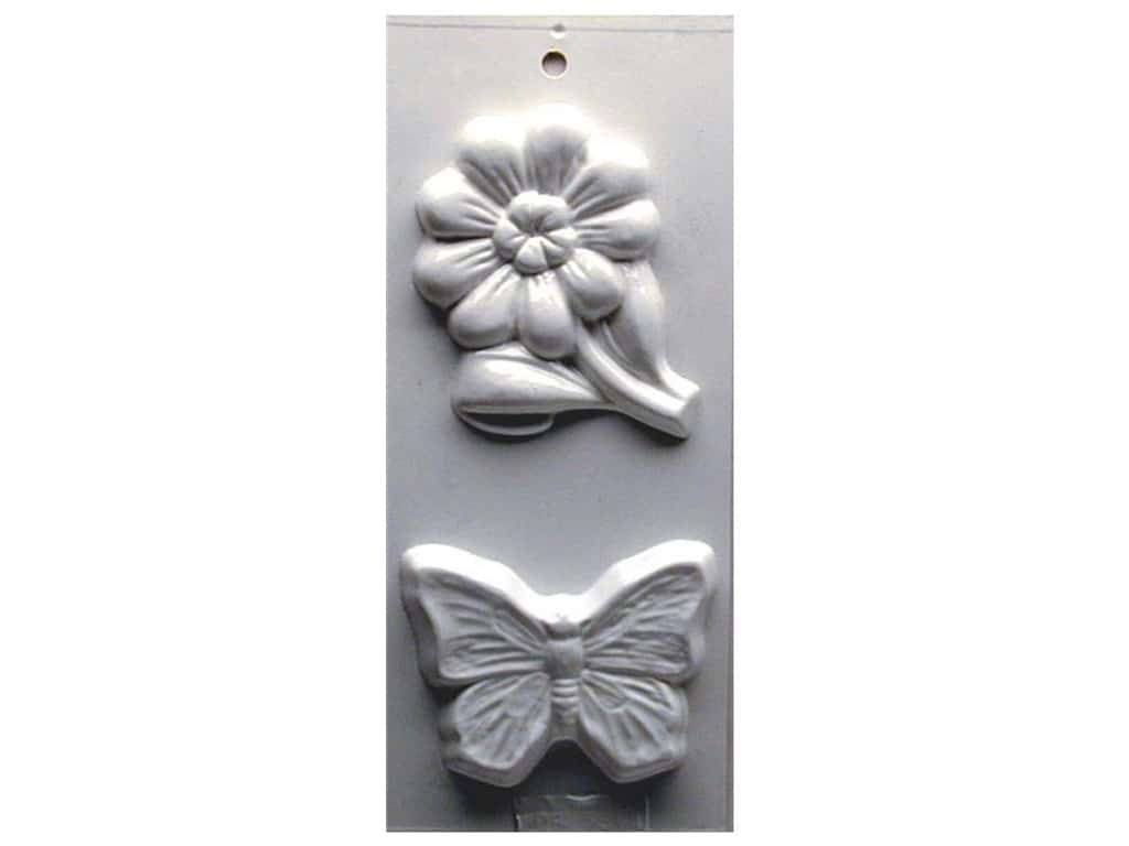 Yaley Soapsations Plastic Soap Molds 4 x 9 in. Daisy & Butterfly