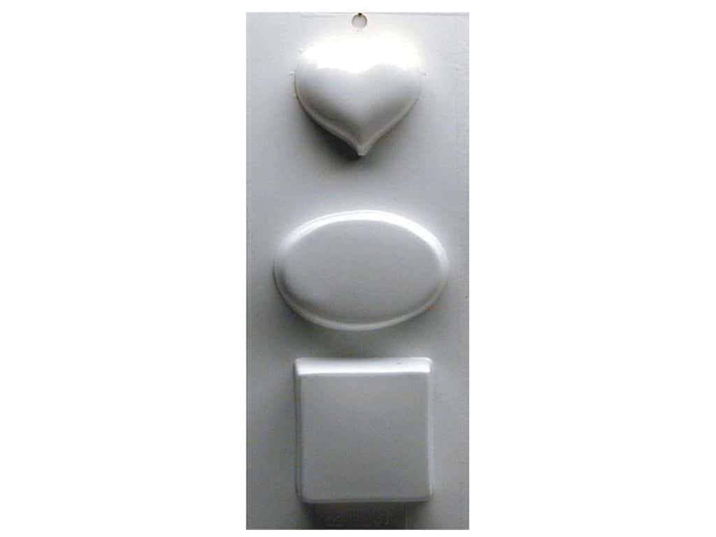 Yaley Soapsations Plastic Soap Molds 4 x 9 in. Gift Size Heart, Oval and Square