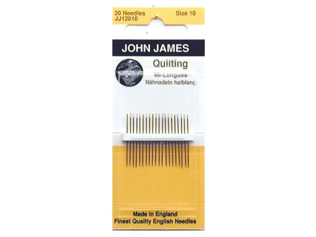 John James Quilting Needles Size 10 20 pc.