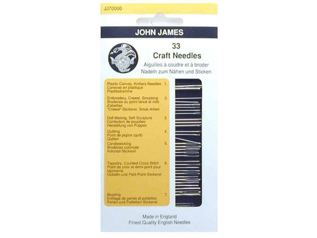 John James Sewing Needle Craft Pack 33 pc. Assorted