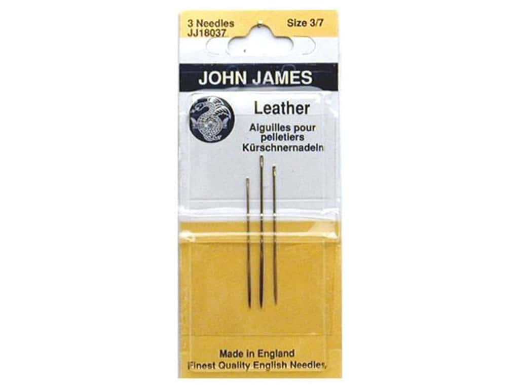 John James Leather Sewing Needles 3 pc. Size 3, 5 & 7