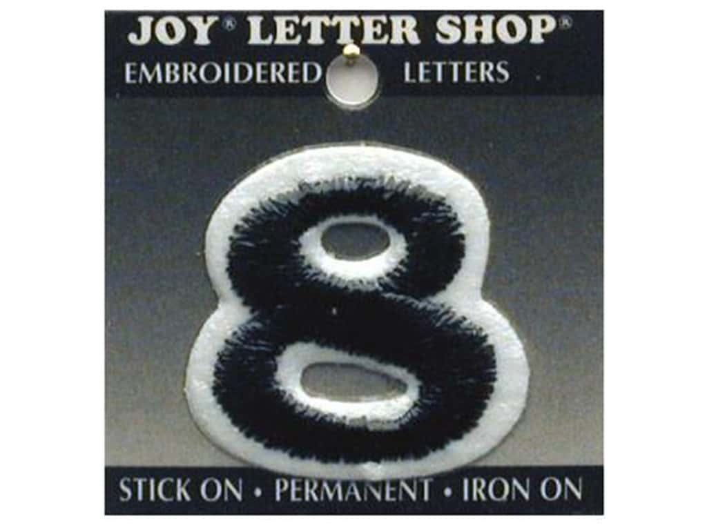 "Joy Lettershop Iron-On Number ""8"" Embroidered 1 1/2 in. Black"