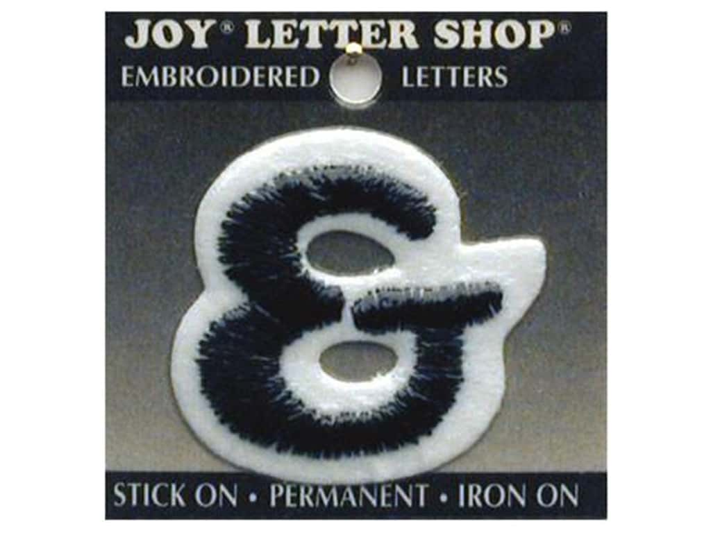 "Joy Lettershop Iron-On Number ""&"" Embroidered 1 1/2 in. Black"