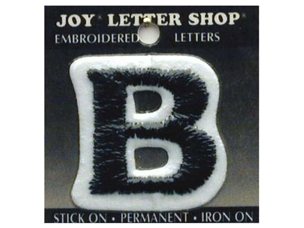 "Joy Lettershop Iron-On Letter ""B"" Embroidered 1 1/2 in. Black"