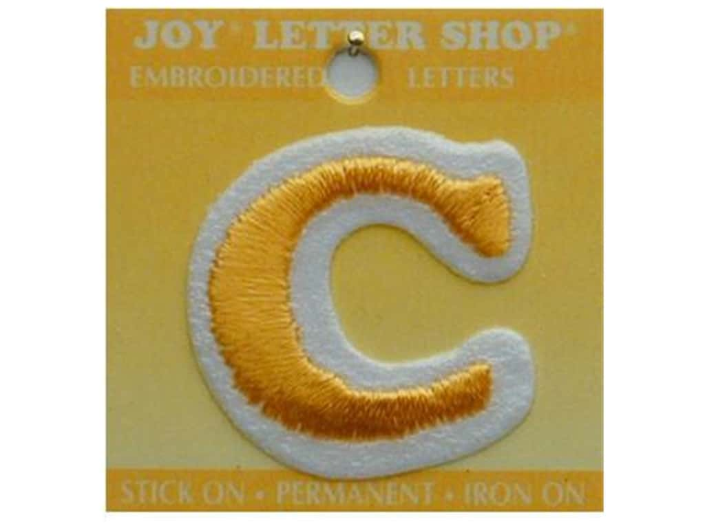 "Joy Lettershop Iron-On Letter ""C"" Embroidered 1 1/2 in. Gold"