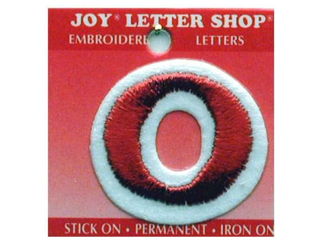 "Joy Lettershop Iron-On Letter ""O"" Embroidered 1 1/2 in. Red"