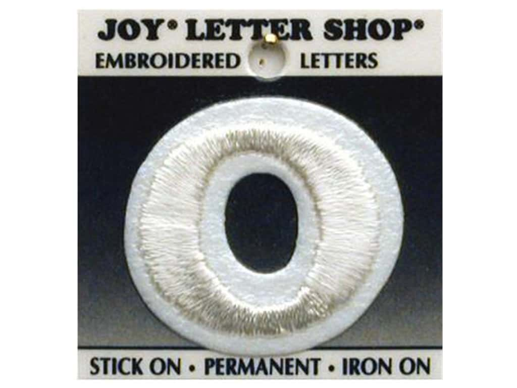 "Joy Lettershop Iron-On Letter ""O"" Embroidered 1 1/2 in. White"