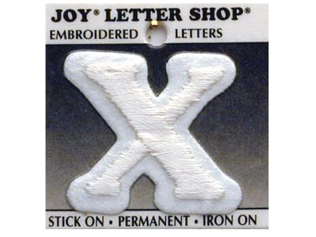 "Joy Lettershop Iron-On Letter ""X"" Embroidered 1 1/2 in. White"