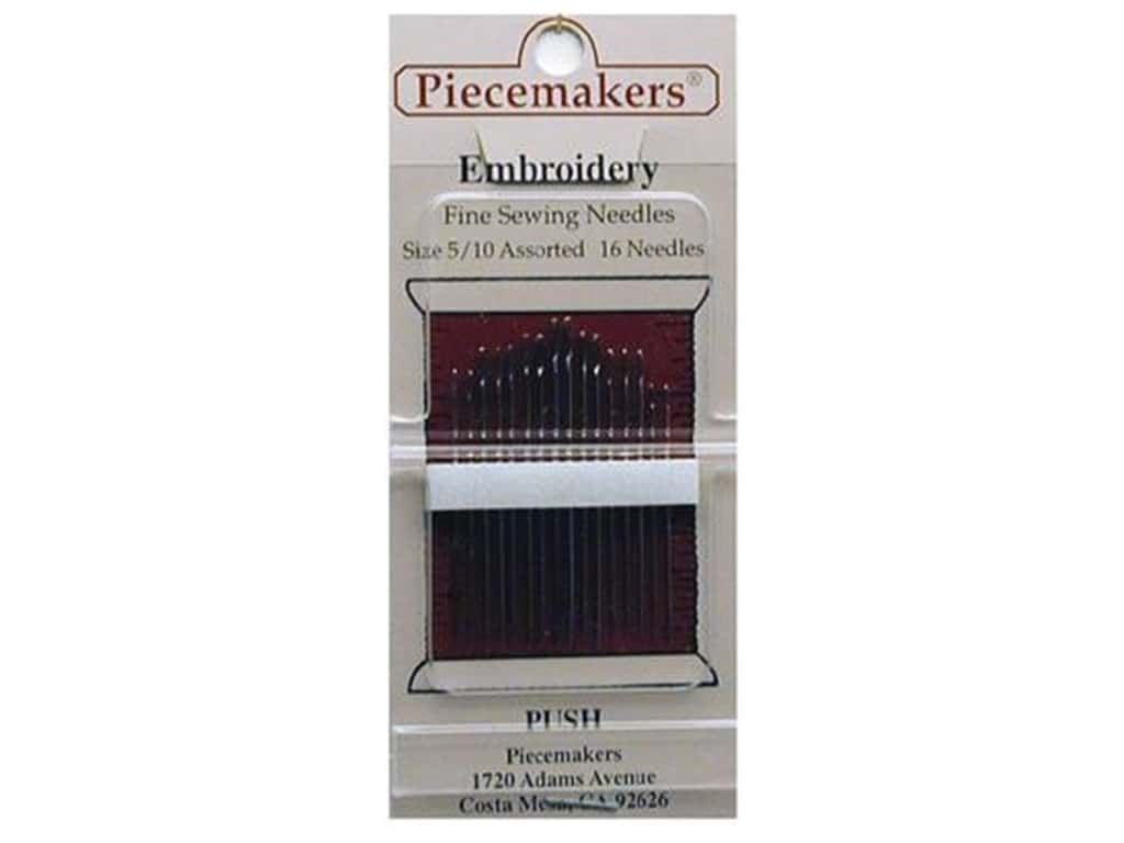 Piecemakers Embroidery Needles Size 5/10 (3 packages)