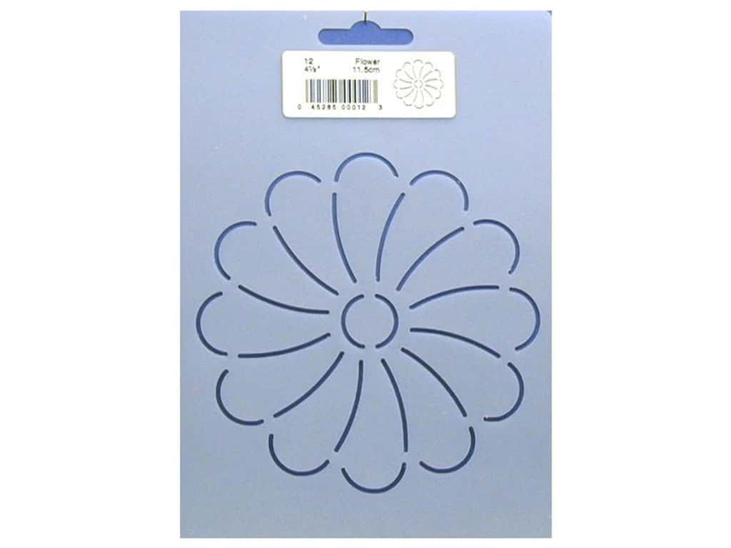 Quilting Creations Stencil Daisy 4 1/2 in.