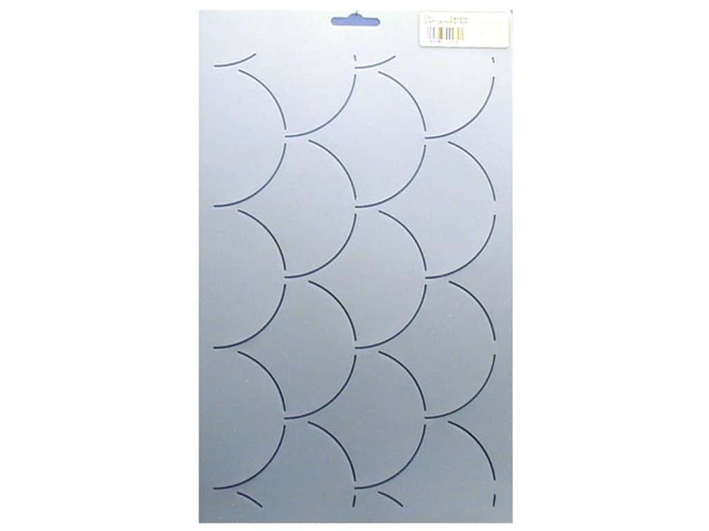 Quilting Creations Stencil Scallop Background 12 x 7 in.