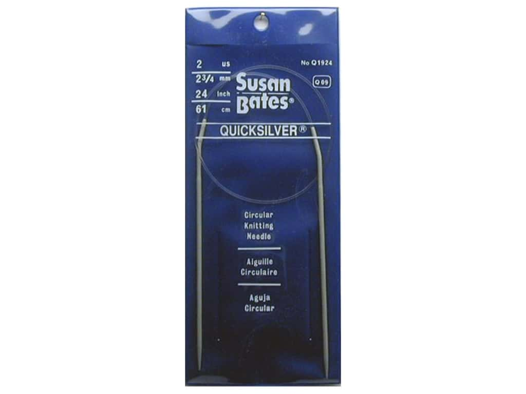 Susan Bates Quicksilver Circular Knitting Needles 24 in. Size 2 (2.75 mm)