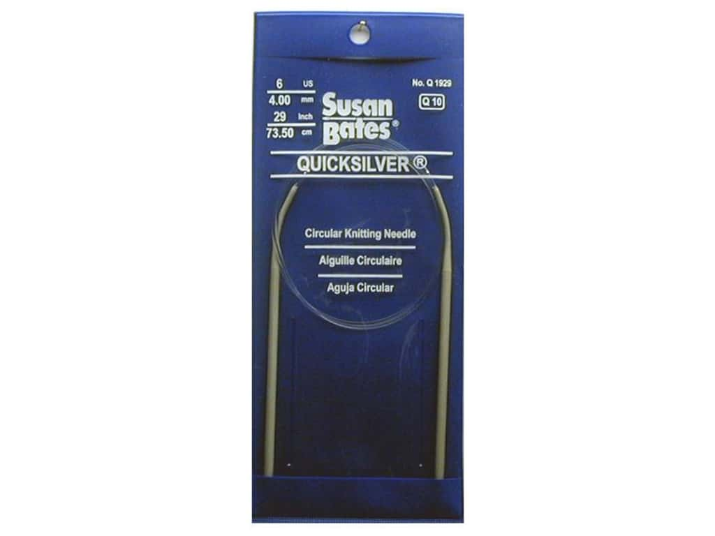 Susan Bates Quicksilver Circular Knitting Needles 29 in. Size 6 (4 mm)