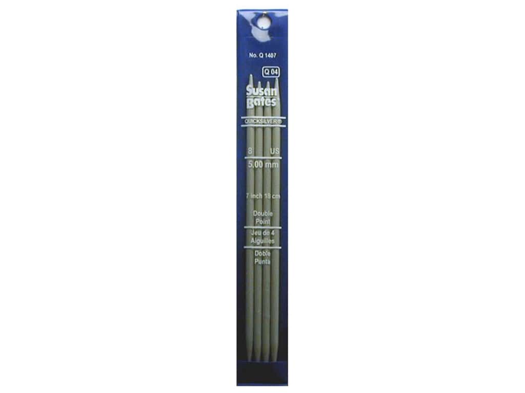 Susan Bates Quicksilver Double Pointed Knitting Needles 7 in. Size 8 (5 mm) 4 pc.
