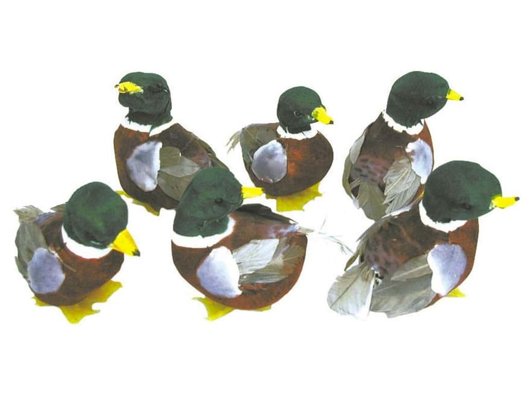 Accent Design Artificial Bird 2 3/4 in. Duck Green/Wh Feather 1 pc.