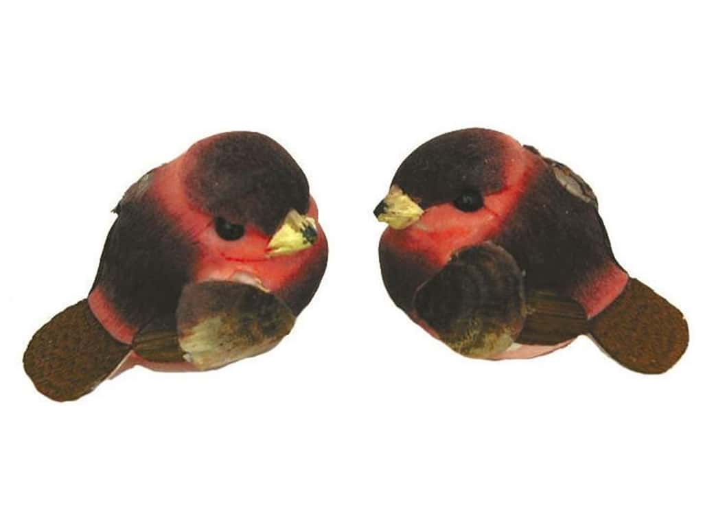 Accent Design Artificial Bird 1 in. Chickadee Brown/Pink 1 pc.