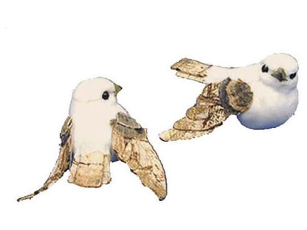 Accent Design Artificial Bird 2 1/2 in. Dove White/Brown 1 pc.