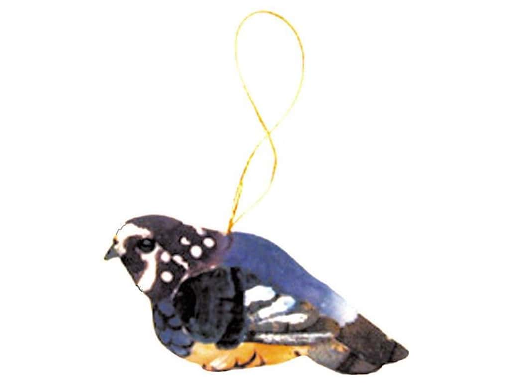 Accent Design Artificial Bird 3 in. Lark Blue/Brown/Orange 1 pc.