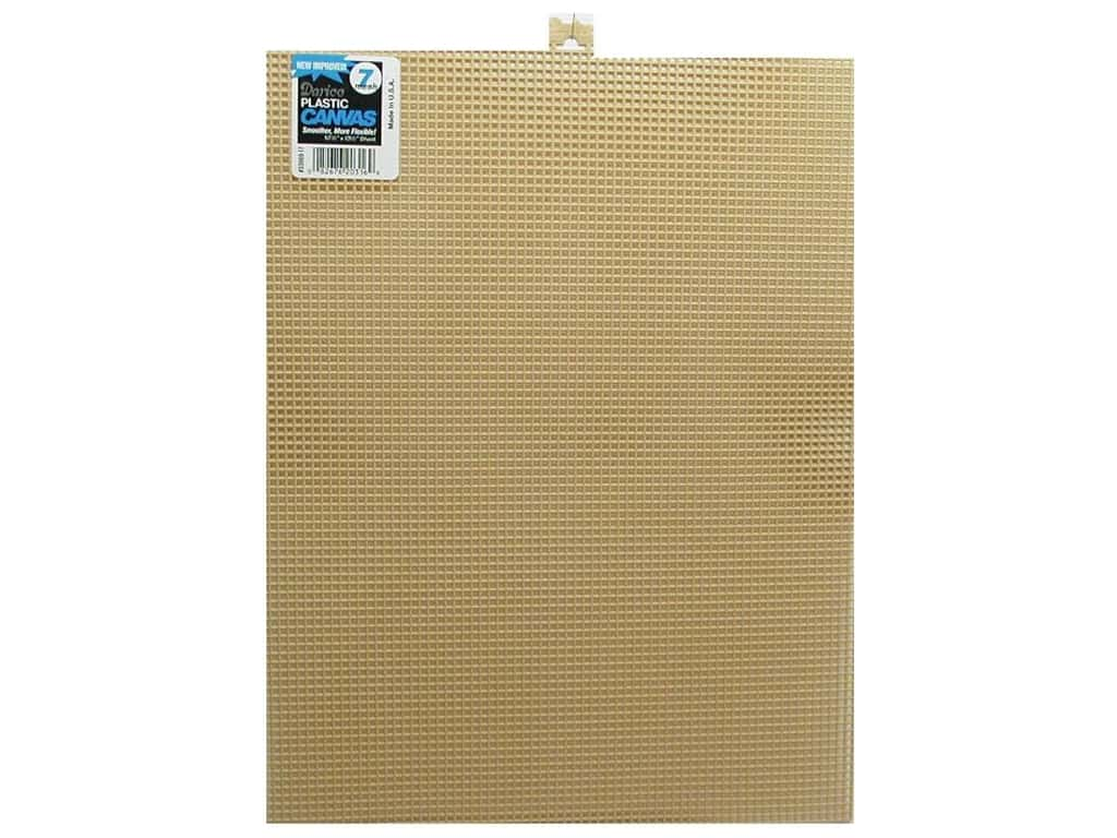 Darice Plastic Canvas #7 Mesh 10 1/2 x 13 1/2 in. Beige (12 sheets)