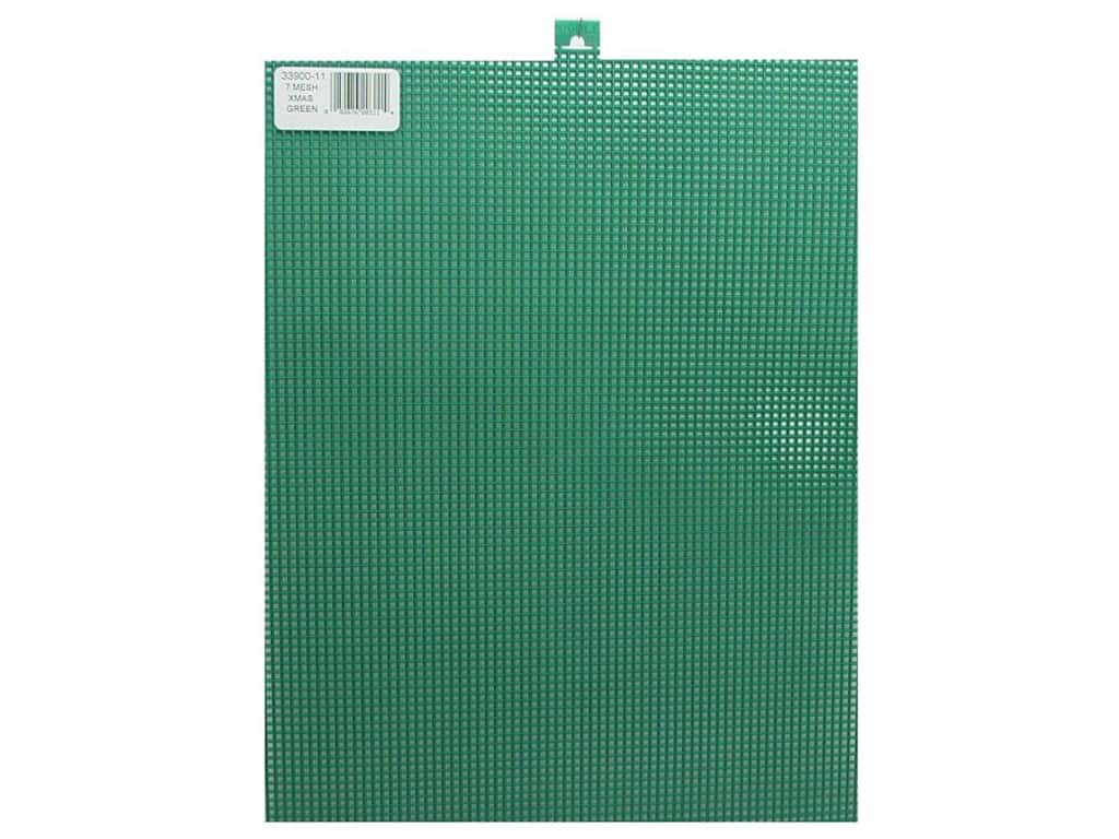 Darice Plastic Canvas #7 Mesh 10 1/2 x 13 1/2 in. Christmas Green (12 sheets)