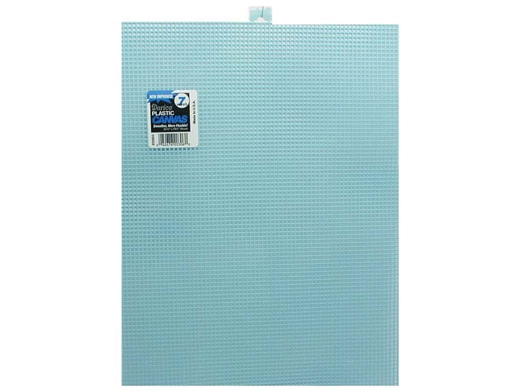 Darice Plastic Canvas #7 Mesh 10 1/2 x 13 1/2 in. Light Blue (12 sheets)