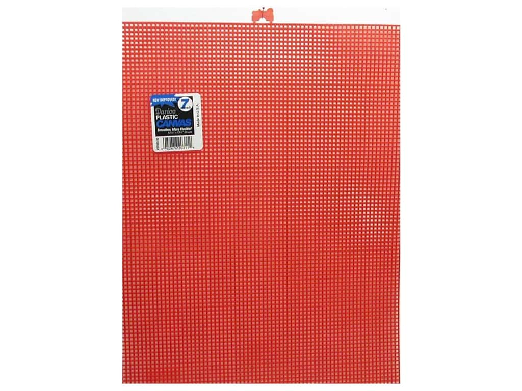 Darice Plastic Canvas #7 Mesh 10 1/2 x 13 1/2 in. Christmas Red. (12 sheets)