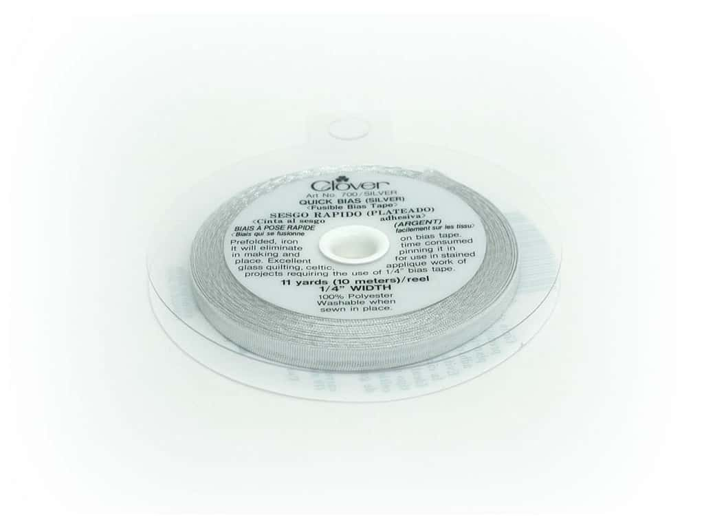 Clover Fusible Quick Bias 1/4 in. x 11 yd. Silver