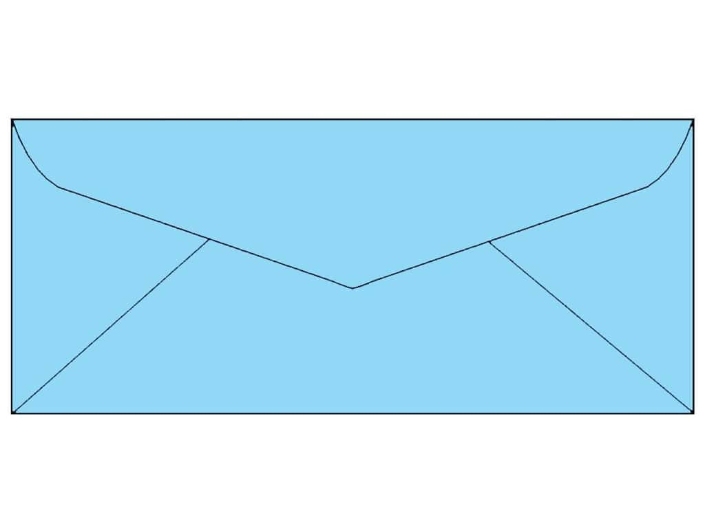 4 x 9 1/4 in. Letter Envelopes by Paper Accents 25 pc. #116 Light Blue