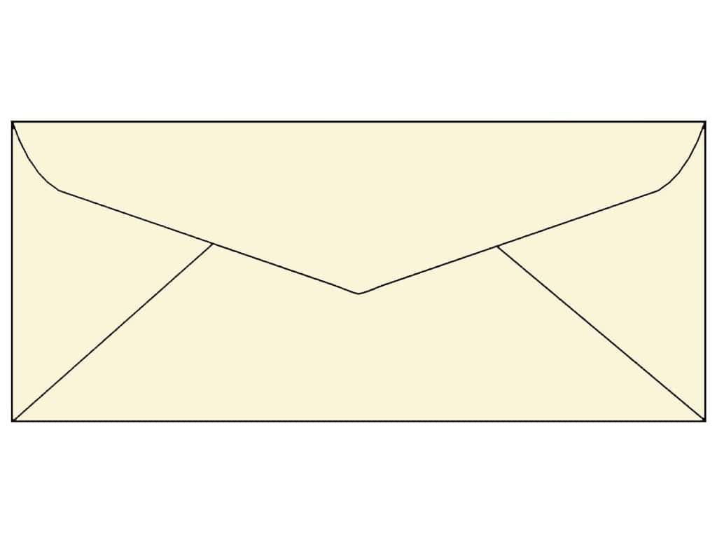 4 x 9 1/4 in. Letter Envelopes by Paper Accents 25 pc. #119 Cream