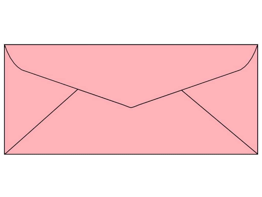 4 x 9 1/4 in. Letter Envelopes by Paper Accents 25 pc. #124 Light Pink