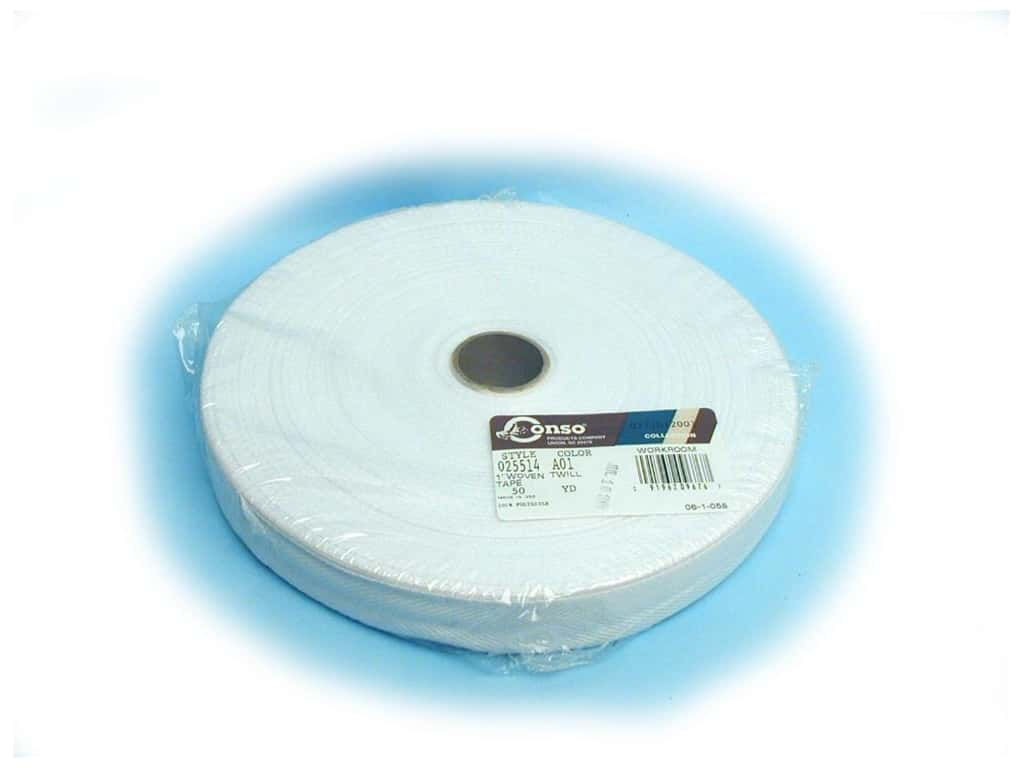 Conso Polyester Twill Tape 1 in. White (144 yards)
