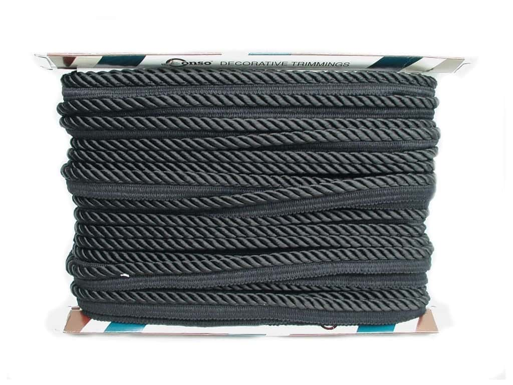 Conso Princess Cord with Lip 3/8 in. Black (24 yards)