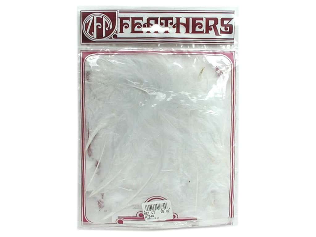 Zucker Feather Turkey Marabou Feathers 1/4 oz. Large White