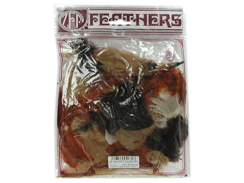 Zucker Feather Turkey Plumage Feathers 1/2 oz. Earth Mix