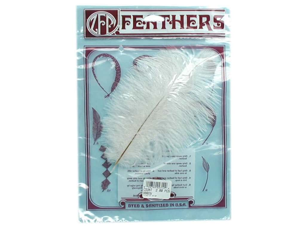 Zucker Feather Ostrich Drab Feathers 2 pc. White