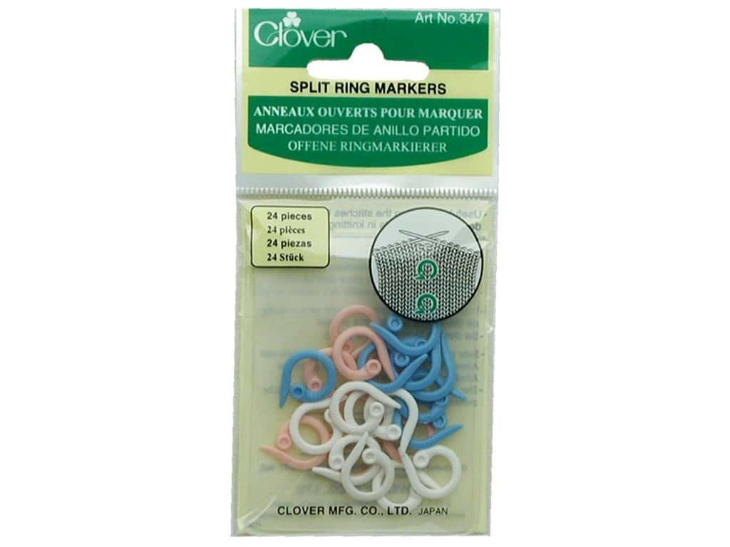 Clover Split Ring Stitch Markers 24 pc.