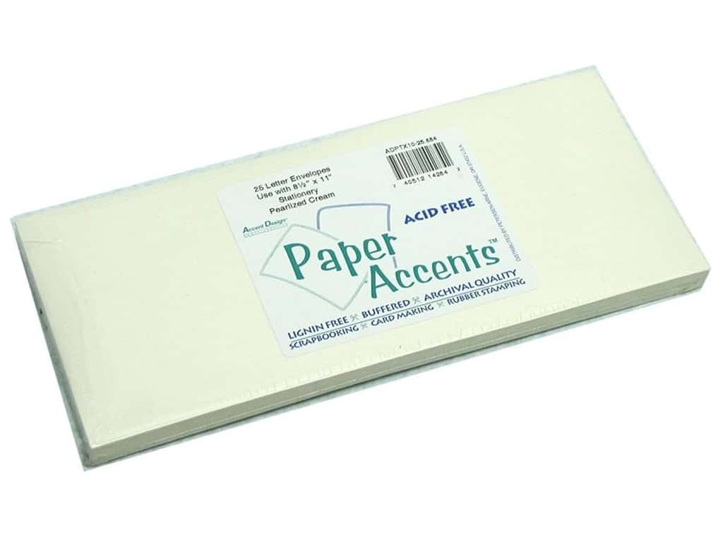 Paper Accents 4 x 9 1/4 in. Letter Envelopes 25 pc. #884 Pearlized Cream