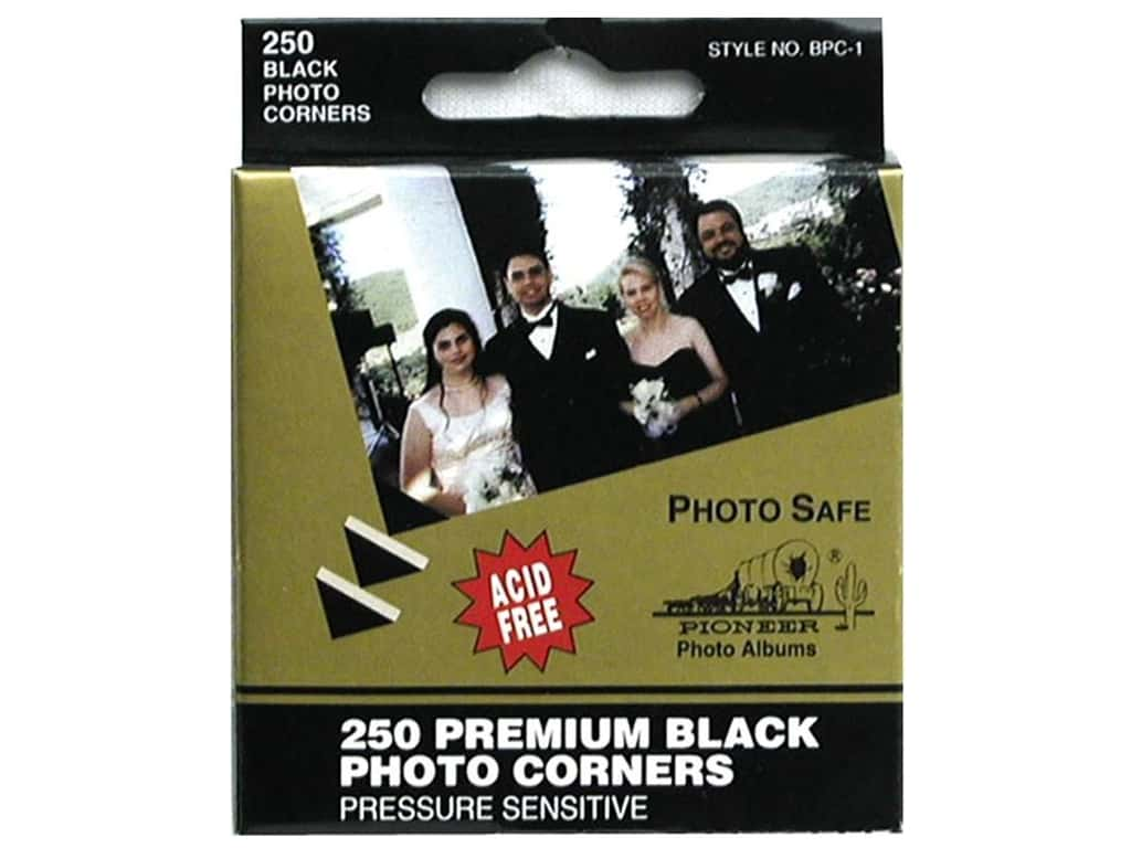 Pioneer Photo Corners 250 pc. Black
