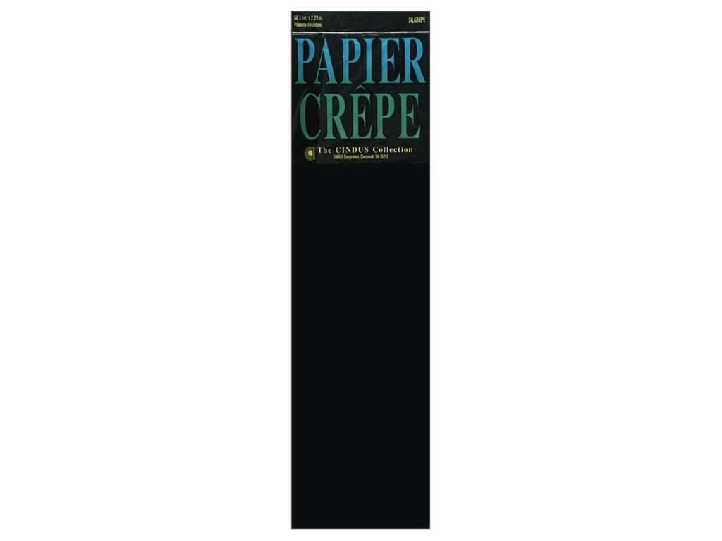 Crepe Paper Folds by Cindus 20 in. x 7 1/2 ft. Black