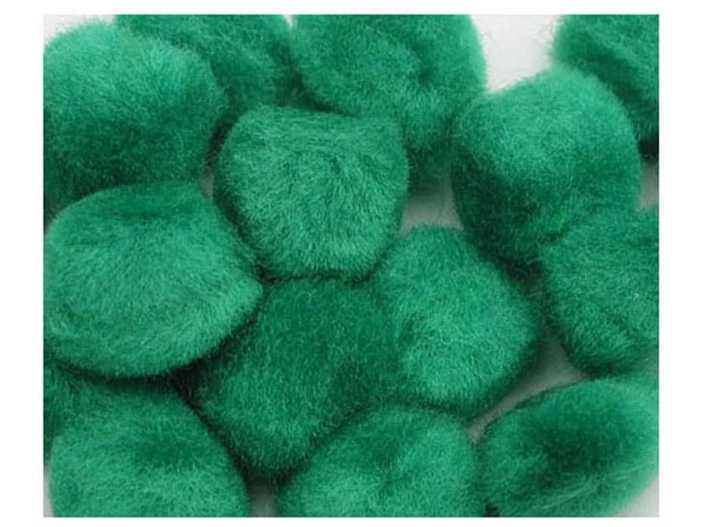PA Essentials Pom Poms 3/4 in. Green 12 pc.