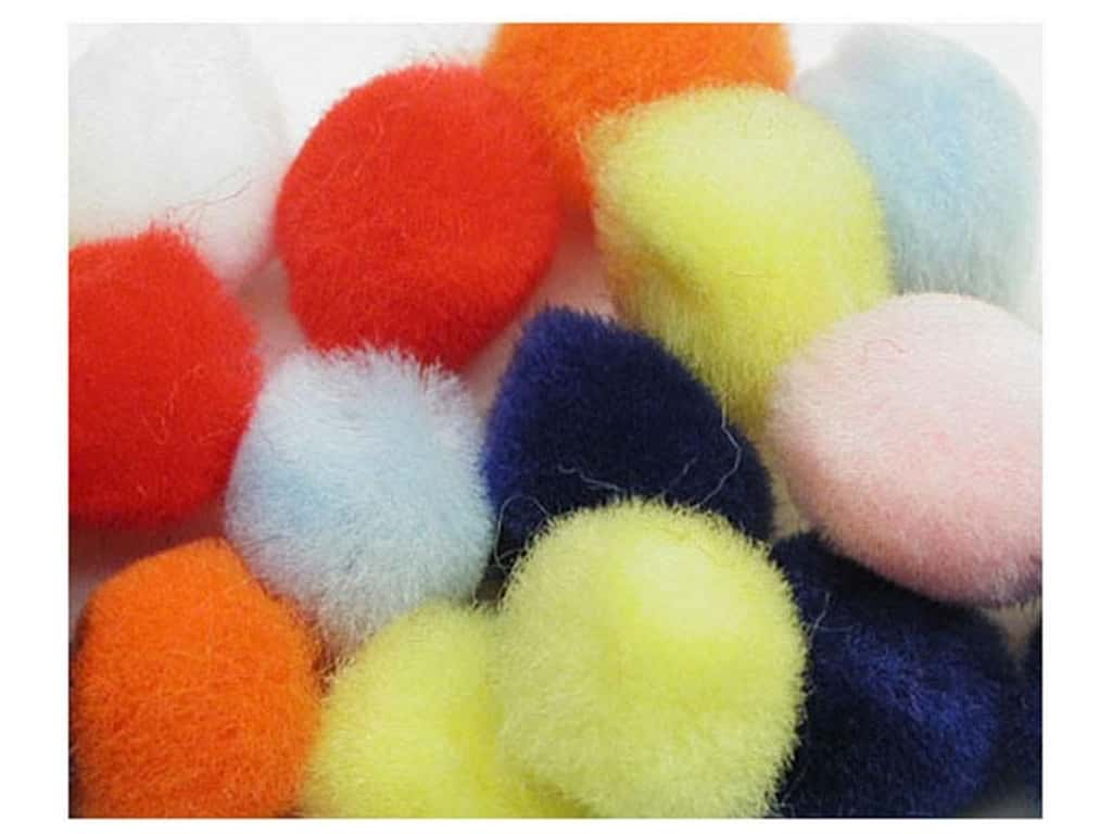 PA Essentials Pom Poms 1 1/2 in. Multi 3 pc.