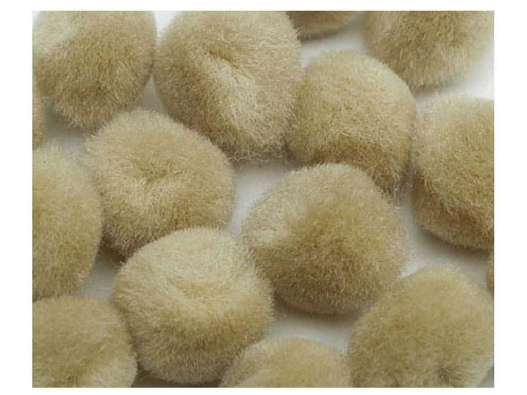 PA Essentials Pom Poms 1 1/2 in. Beige 3 pc.